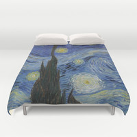 Starry Night by Vincent Van Gogh Duvet Cover by ArtMasters