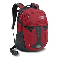 Recon Backpack in Rage Red & Asphalt Gray by The North Face
