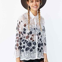Sister Jane Poppy Lace Blouse- White