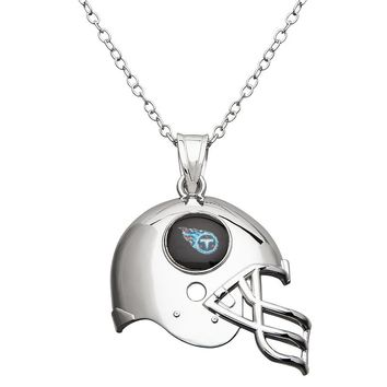 Tennessee Titans Sterling Silver Helmet Pendant Necklace (Grey)