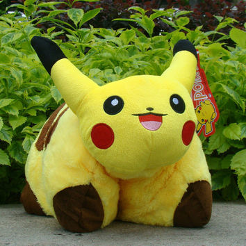 "Kunai pet Pokemon Pikachu Plush Stuffed Cushion Pillow 16"" Stuffed Animal Doll"
