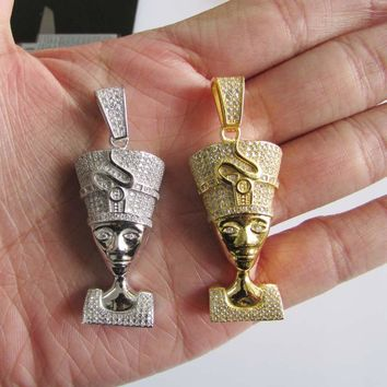 SPBEST Pharaoh micro simulated diamonds necklace