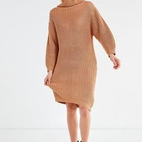 BLQ BASIQ Chunky Turtleneck Sweater Dress | Urban Outfitters