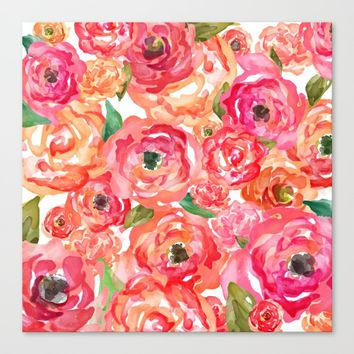 Bed of Roses Canvas Print by Allison Reich