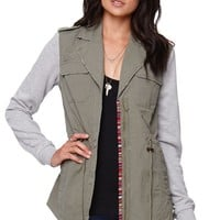 Billabong Fall Dayz Anorak Jacket - Womens Jacket - Green