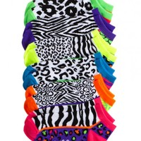 Colorblock Animal Ankle Socks | Girls Anklets Socks & Legwear | Shop Justice