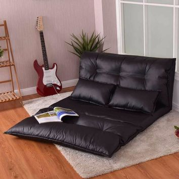 Leather Floor Sofa Bed