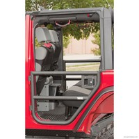 Rear Tube Doors, Textured Black; 07-16 Jeep Wrangler JKU