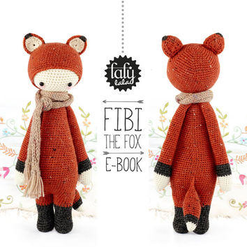 FIBI the fox - lalylala amigurumi crochet PATTERN - ebook