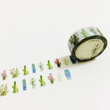 Wanna Hug - Cactus Washi Tape (PREMIUM)
