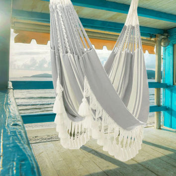 Sucre hammock, boho, beach house, hand woven, double hammock, outdoors and indoors hammock, luxury hammock