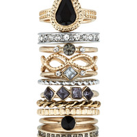 Supreme Stacking Ring Set | Gold | Accessorize