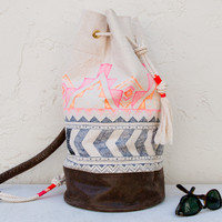 Tribal Duffle Bag Bucket Bag