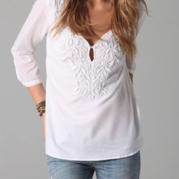 Velvet Aubin Embroidered Blouse | SHOPBOP
