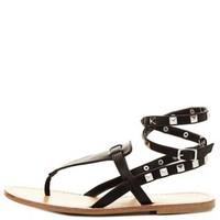 Studded Thong Gladiator Sandals by Charlotte Russe