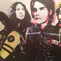 My Chemical Romance popart with watercolor- PRINT