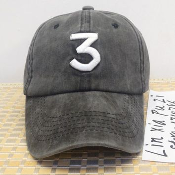 Chance 3 the rapper cap Embroidered letter 3 hat kanye west drake Streetwear dad cap  Baseball Cap coloring Book 6 panel hats