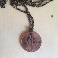 Hand Stamped Penny Necklace