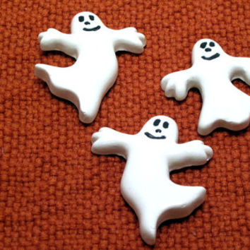 Halloween, Set, Spooky, Ghost, Refrigerator, Magnet, Decor, Fridge, Country, Boo, Supply,House,Scary, Ceramic, Trick or Treat, Creepy, Retro