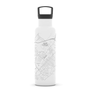 College Town Map 21 oz Insulated Hydration Bottle
