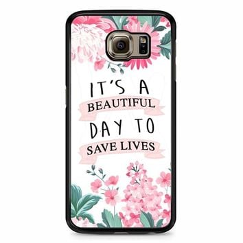 Grey Anatomy Quotes Samsung Galaxy S6 Case
