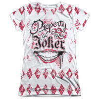 Suicide Squad Property of The Joker Women's Sublimated Shirt
