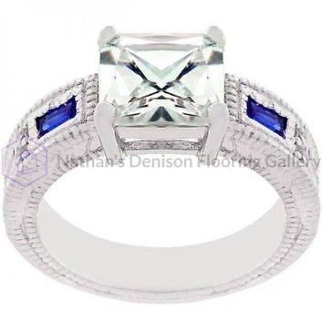 Prima Donna Sapphire Blue Cubic Zirconia Ring (size: 10) R07629R-C30-10