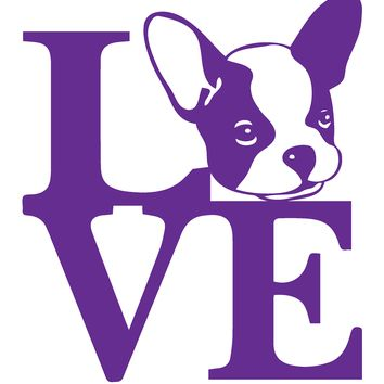 French Bulldog Love Vinyl Graphic Decal
