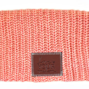 Salmon and White Speckled Beanie - Love Your Melon