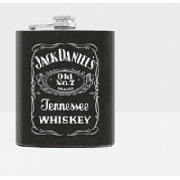 Jack Daniels whiskey Flask - Hip flask - Men flask - Black - 7oz flask
