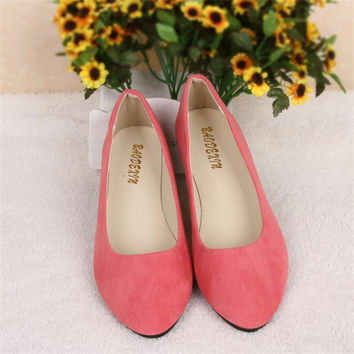 Big Size Women Flats Candy Color Shoes Woman Loafers Spring Autumn Flat Casual Shoes Women Zapatos Mujer Plus Size 35-43