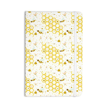"Stephanie Vaeth ""Honey Bees"" White Yellow Everything Notebook"