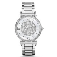 Catlin Pavé-Embellished Silver-Tone Stainless Steel Watch