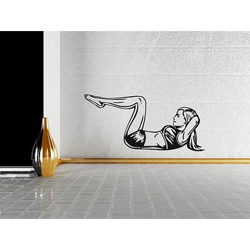 Vinyl Decal Wall Sticker Fitness Body Girl Gym Sport Workout Fitness Unique Gift (n526)
