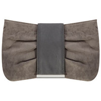 Grey bow shape clutch - Purses & Wallets  - Accessories