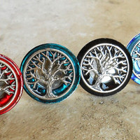 Tree of Life Cufflinks: Set of 5 - Groomsmen Gift - Celtic Wedding - Father of the Bride - Best Man Gift - Irish Wedding - Wedding Party