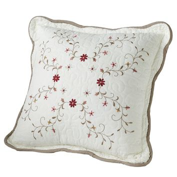 Home Classics Amelia Quilted Decorative Pillow (White)