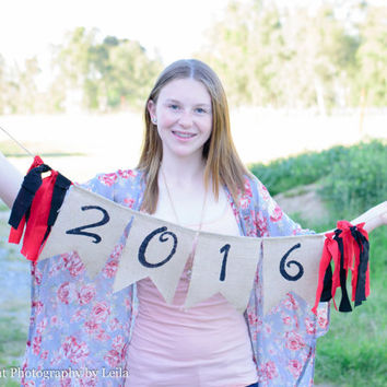 Class of 2016 banner - graduation decor - 2016 banner - high school reunion - 2016 senior photo prop - senior picture photo prop - 2016