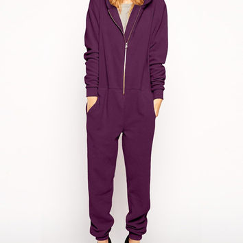Bear Ears Hooded Long Sleeve Jumpsuits