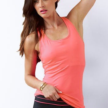 Bayse Womens Essential Studio Shelf Bra Tank in Coral