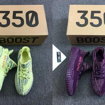2017 New Arrival Sply 350 Boost V2 Red Night Semi Frozen Kanye West 350v2 Sply Man Running Shoes Mens Women Sport Sneakers Us 5 11