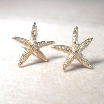 Starfish Stud Earrings on 925 sterling silver posts