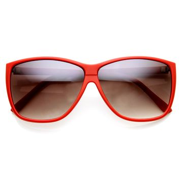 Modified Oversized Matte Color Horn Rimmed Sunglasses