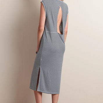 Boys Club Striped Midi Dress By NYTT