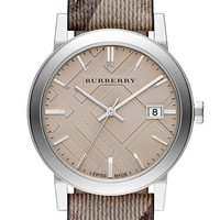 Burberry Smoke Check Strap Watch, 38mm