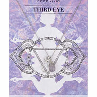 Third Eye Chakra Necklace - Purple