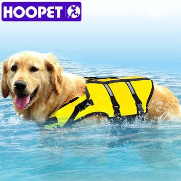 HOOPET Big Large Dog Life Jacket Safety Vest Surfing Swimming Clothes Summer Vacation Oxford Breathable Mesh Bulldog