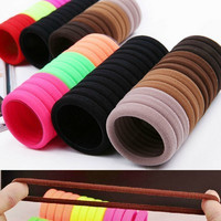 10 Piece Candy Fluorescent Color Hair Tie