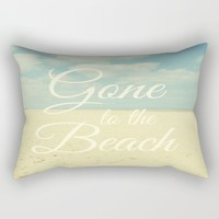 Gone To The Beach Rectangular Pillow by ALLY COXON | Society6