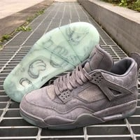 2017 KAWS x Air Jordan Retro 4 XX Kaws Mens basketball shoes Cool Grey Glow sneakers eur 41-47